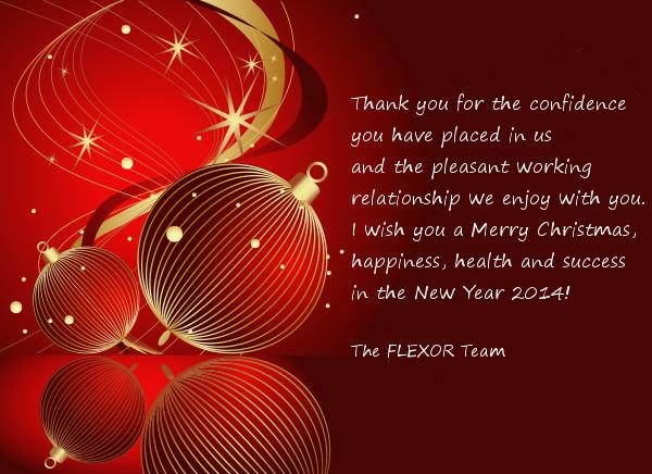 Festive Season Greetings • Flexor